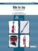 Cover icon of Ode to Joy from Symphony No. 9 (COMPLETE) sheet music for full orchestra by Ludwig van Beethoven and Richard Meyer, classical score, beginner orchestra
