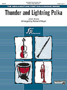 Cover icon of Thunder and Lightning Polka sheet music for full orchestra (full score) by Johann Strauss, classical score, easy