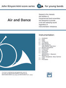 Cover icon of Air and Dance sheet music for concert band (full score) by John Kinyon