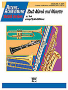 Cover icon of Bach March and Musette sheet music for concert band (full score) by Johann Sebastian Bach and Mark Williams, classical score, easy skill level
