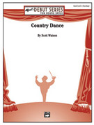 Cover icon of Country Dance sheet music for concert band (full score) by Scott Watson