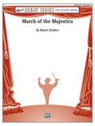 Cover icon of March of the Majestics sheet music for concert band (full score) by Robert Sheldon