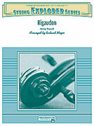 Cover icon of Rigaudon (COMPLETE) sheet music for string orchestra by Henry Purcell and Richard Meyer