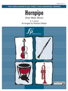 Cover icon of Hornpipe sheet music for full orchestra (full score) by George Frideric Handel, classical score, easy