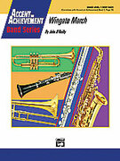 Cover icon of Wingate March sheet music for concert band (full score) by John O'Reilly