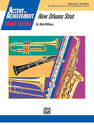 Cover icon of New Orleans Strut (COMPLETE) sheet music for concert band by Mark Williams