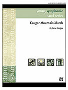 Cover icon of Cougar Mountain March sheet music for concert band (full score) by Steve Hodges