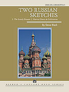 Cover icon of Two Russian Sketches sheet music for concert band (full score) by Dave Black, intermediate