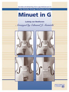 Cover icon of Minuet in G sheet music for string orchestra (full score) by Ludwig van Beethoven and Edmund J. Siennicki, classical score, intermediate orchestra