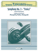 Cover icon of Symphony No. 3 - Eroica sheet music for string orchestra (full score) by Ludwig van Beethoven, classical score, easy/intermediate skill level