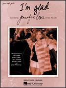 Cover icon of I'm Glad sheet music for voice, piano or guitar by Jennifer Lopez, intermediate