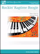 Cover icon of Rockin' Ragtime Boogie sheet music for piano four hands by Glenda Austin, intermediate skill level