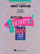 Cover icon of Sweet Caroline (COMPLETE) sheet music for concert band by Neil Diamond and Johnnie Vinson
