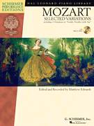 Cover icon of Twelve Variations on A Menuett, K. 179 sheet music for piano solo by Wolfgang Amadeus Mozart and Matthew Edwards, classical score, intermediate skill level