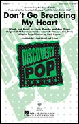 Cover icon of Don't Go Breaking My Heart sheet music for choir (chamber ensemble) by Mark Brymer, Elton John, Glee Cast and Miscellaneous, intermediate choir (chamber ensemble)