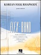 Cover icon of Korean Folk Rhapsody (COMPLETE) sheet music for concert band by James Curnow