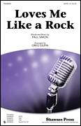 Cover icon of Loves Me Like A Rock sheet music for choir (SATB: soprano, alto, tenor, bass) by Paul Simon and Greg Gilpin, intermediate