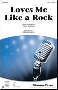 Cover icon of Loves Me Like A Rock sheet music for choir (TTBB: tenor, bass) by Paul Simon and Greg Gilpin, intermediate skill level