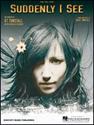 Cover icon of Suddenly I See sheet music for voice, piano or guitar by KT Tunstall, intermediate skill level
