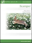 Cover icon of Scamper sheet music for piano solo (elementary) by Robert Donahue, beginner piano (elementary)