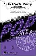 Cover icon of 90's Rock Party (Medley) sheet music for choir (SATB: soprano, alto, tenor, bass) by Kirby Shaw, intermediate skill level