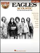 Cover icon of New Kid In Town sheet music for guitar (tablature, play-along) by Eagles, Don Henley, Glenn Frey and John David Souther, intermediate guitar (tablature, play-along)