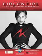 Cover icon of Girl On Fire sheet music for voice, piano or guitar by Alicia Keys and Nicki Minaj, intermediate
