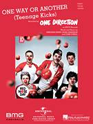 Cover icon of One Way Or Another (Teenage Kicks) sheet music for voice, piano or guitar by One Direction, intermediate