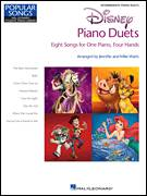 Cover icon of Kiss The Girl sheet music for piano four hands by Alan Menken and Mike Watts, intermediate skill level