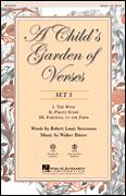 Cover icon of A Child's Garden of Verses (Set I) sheet music for choir (Unison) by Walter Bitner, intermediate