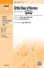 Cover icon of Little Shop Of Horrors sheet music for choir (SSA: soprano, alto) by Alan Menken, Howard Ashman and Mark Brymer, intermediate skill level
