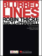 Cover icon of Blurred Lines sheet music for voice, piano or guitar by Robin Thicke and Pharrell Williams, intermediate