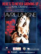 Cover icon of Here's To Never Growing Up sheet music for voice, piano or guitar by Avril Lavigne, Chad Kroeger, David Hodges, Jacob Hindlin and Martin Johnson, intermediate