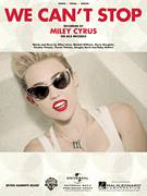 Cover icon of We Can't Stop sheet music for voice, piano or guitar by Miley Cyrus and Timmy Thomas, intermediate