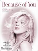 Cover icon of Because Of You sheet music for piano solo by Kelly Clarkson, Ben Moody and David Hodges, easy skill level
