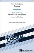 Cover icon of Royals sheet music for choir (SATB) by Deke Sharon and Lorde