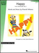 Cover icon of Happy sheet music for piano solo (elementary) by Pharrell Williams, Lynda Lybeck-Robinson and Pharrell, beginner piano (elementary)