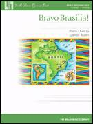 Cover icon of Bravo Brasilia! sheet music for piano four hands (duets) by Glenda Austin, intermediate piano four hands