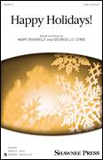 Cover icon of Happy Holidays! sheet music for choir (duets) by George L.O. Strid and Mary Donnelly, Christmas carol score, intermediate duet