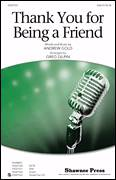 Cover icon of Thank You For Being A Friend sheet music for choir (SAB) by Greg Gilpin and Andrew Gold, intermediate