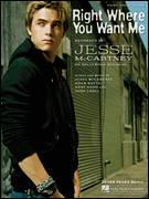 Cover icon of Right Where You Want Me sheet music for voice, piano or guitar by Jesse McCartney, Adam Watts, Andy Dodd and Dory Lobel, intermediate skill level