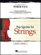 Cover icon of Poker Face (COMPLETE) sheet music for orchestra by Robert Longfield, Glee Cast, Lady Gaga and RedOne, intermediate