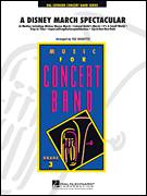 Cover icon of A Disney March Spectacular (COMPLETE) sheet music for concert band by Ted Ricketts, intermediate concert band