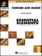 Cover icon of Fanfare And March (COMPLETE) sheet music for concert band by Michael Sweeney, intermediate skill level