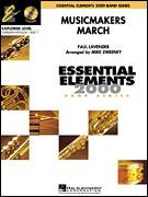 Cover icon of Musicmakers March (Clarinet Section Feature) (COMPLETE) sheet music for concert band by Michael Sweeney and Paul Lavender, intermediate skill level