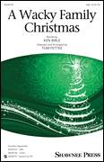 Cover icon of A Wacky Family Christmas sheet music for choir (SAB) by Amilcare Ponchielli, Tom Fettke and Ken Bible, Christmas carol score, intermediate choir (SAB)