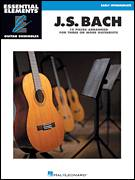 Cover icon of March In D Major sheet music for guitar ensemble by Johann Sebastian Bach, classical score, intermediate