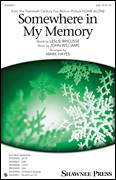 Cover icon of Somewhere In My Memory sheet music for choir (SAB: soprano, alto, bass) by John Williams, Mark Hayes and Leslie Bricusse, intermediate