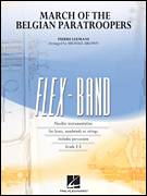 Cover icon of March of the Belgian Paratroopers (COMPLETE) sheet music for concert band by Michael Brown and Pierre Leemans, intermediate skill level