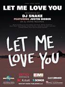Cover icon of Let Me Love You sheet music for voice, piano or guitar by DJ Snake featuring Justin Bieber, Ali Tamposi, Andrew Wotman, Brian Lee, Carl Rosen, Justin Bieber, Louis Bell and William Grigahcine, intermediate